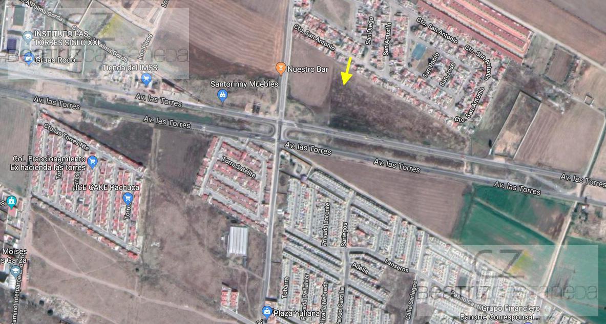 Foto Terreno en Venta en  Pachuca ,  Hidalgo  TERRENO SOBRE BLVD LAS TORRES, PACHUCA HGO