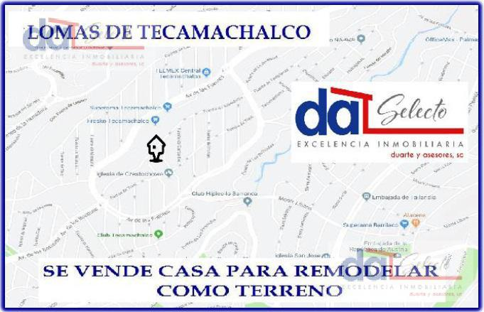 Foto Terreno en Venta en  Lomas de Tecamachalco,  Naucalpan de Juárez  Se vende como Terreno, muy buena ubicacion