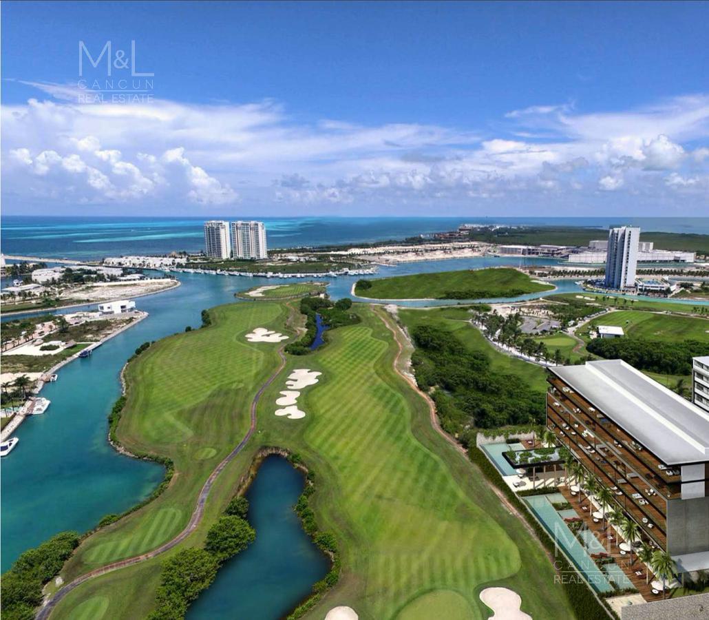 Foto Departamento en Venta en  Puerto Cancún,  Cancún  Departamento en Venta en Cancún. ANTAAL Puerto Cancún 3 Recámaras 199.18 m2  con Vista al Campo de Golf