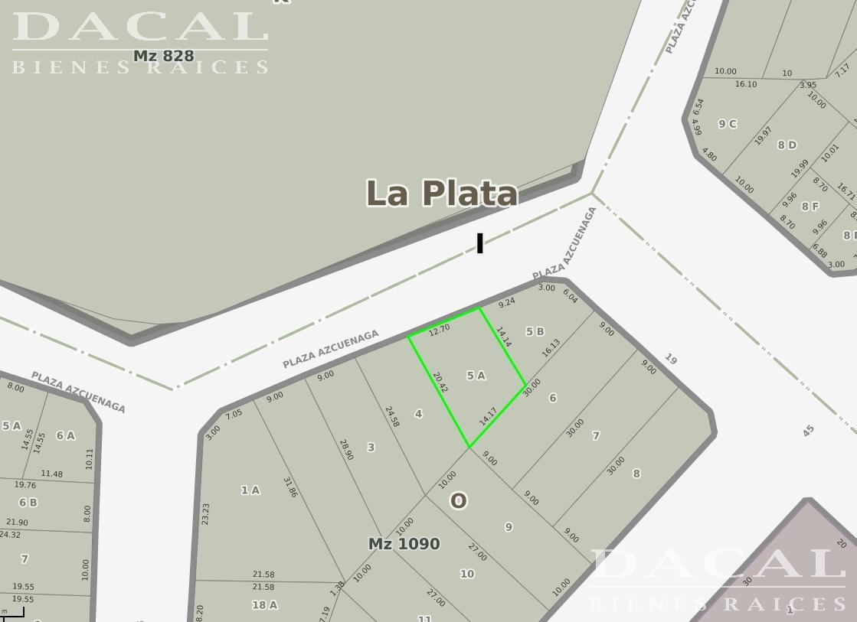 Terreno en Venta, Plaza Azcuenaga e/ 19 y diag. 76 - La Plata - Buenos Aires