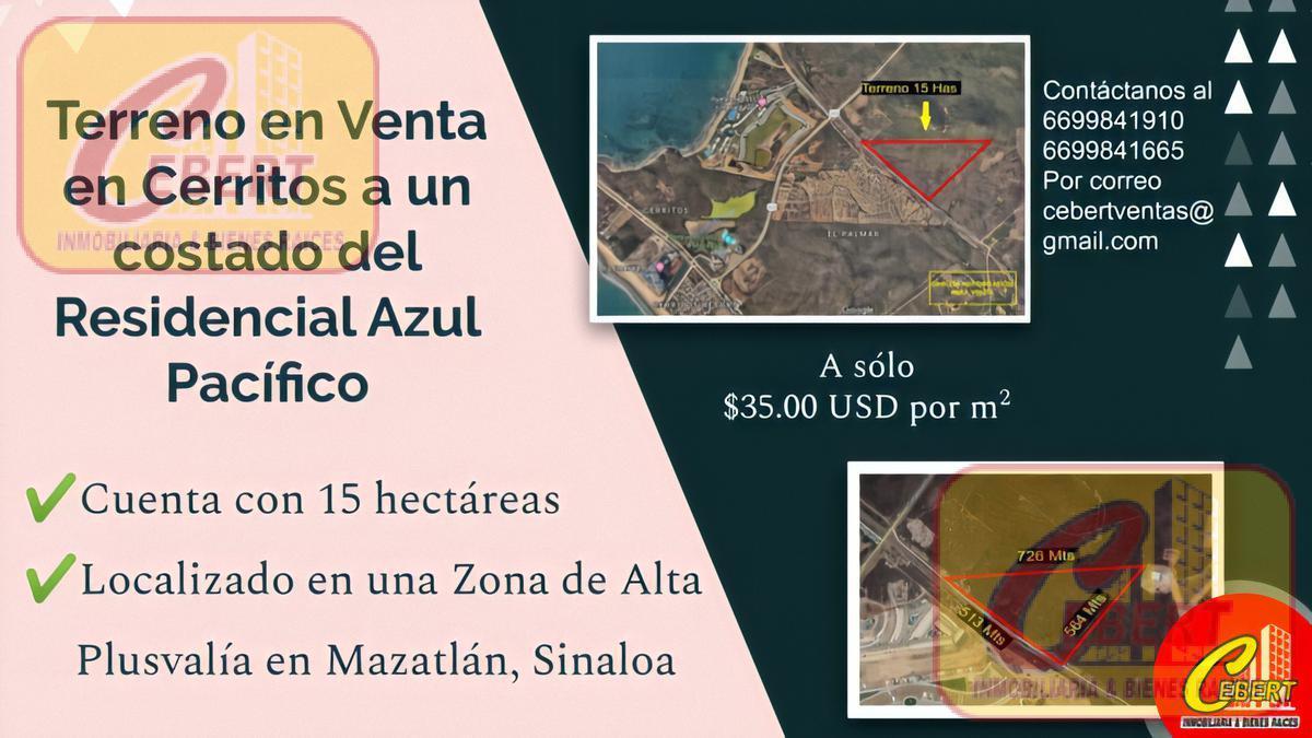 """Foto Terreno en Venta en  Fraccionamiento Cerritos al Mar,  Mazatlán  Magnifico Terreno en zona """"Cerritos"""" Mazatlan!!"""
