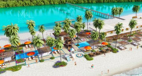 Foto Terreno en Venta en  Benito Juárez ,  Quintana Roo  Excelente terreno en venta en Cancun, Laguna II en Puerto Cancún, con vista al mar