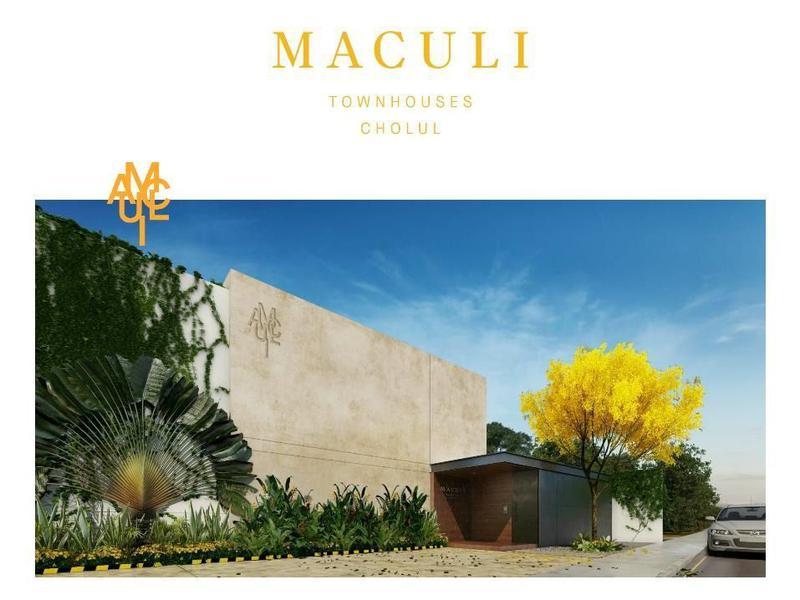 Foto Departamento en Venta en  Pueblo Cholul,  Mérida  MACULI town house                  3 modelos a elegir