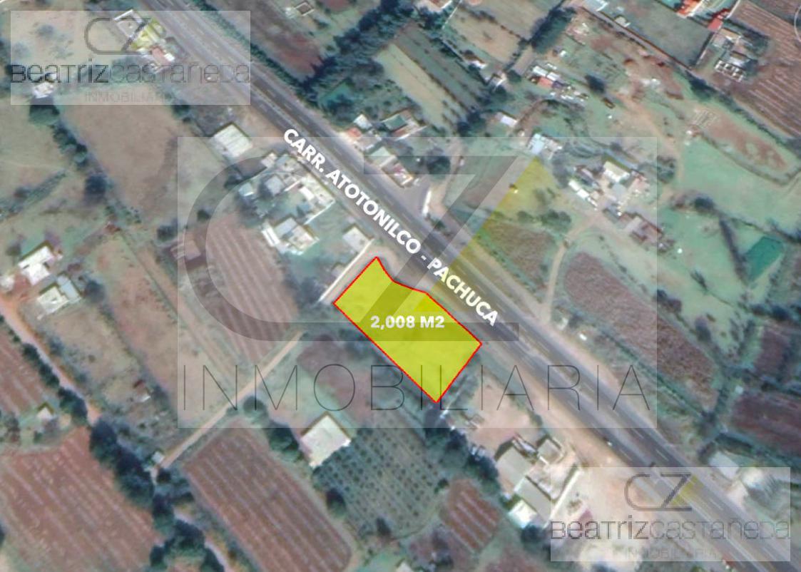 Foto Terreno en Venta en  Atotonilco el Grande ,  Hidalgo  TERRENO SOBRE CARRETERA, ATOTONILCO HIDALGO
