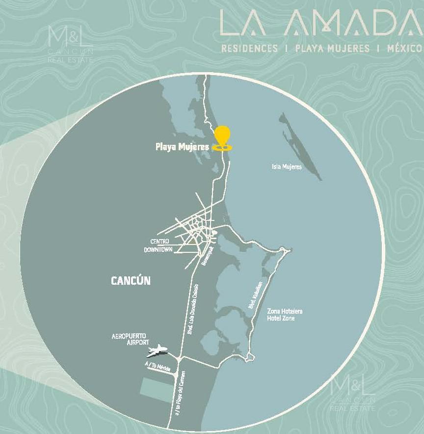 Foto Departamento en Venta en  Ciudad de Cancún,  Cancún  Departamento en Venta en Cancún LA AMADA Frente Al Mar 4 Recámaras .Playa Mujeres