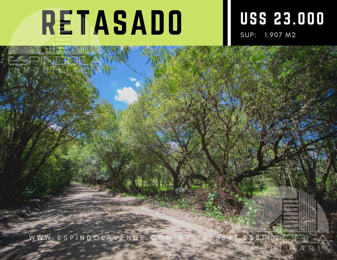 Foto Terreno en Venta en  Piedra Blanca Abajo,  Merlo  RETASADO-  1.906m2