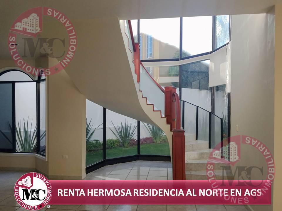 Foto Casa en Renta en  Condominio Rinconada los Bosques,  Aguascalientes  M&C SOLUCIONES INMOBILIARIAS RENTA HERMOSA RESIDENCIA AL NORTE