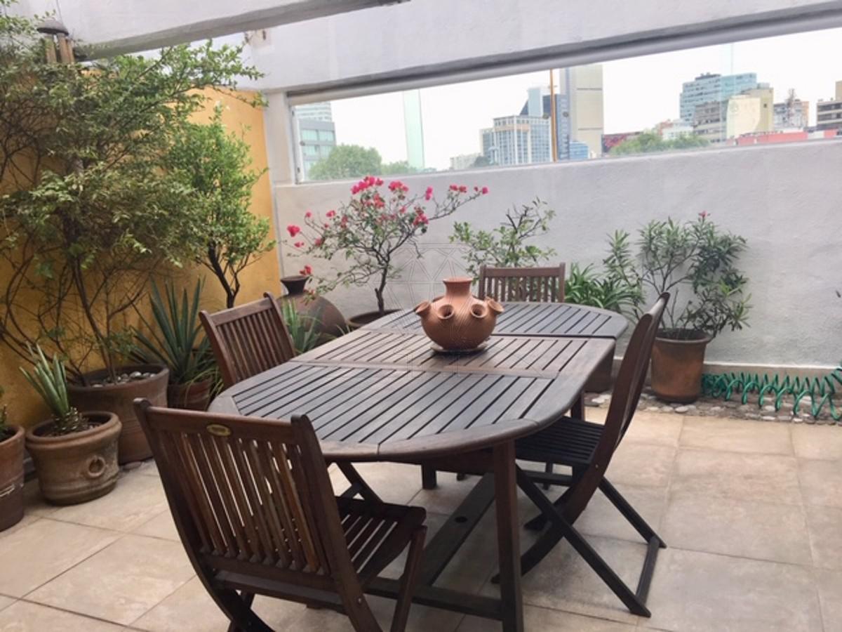 Foto Departamento en Venta en  Polanco,  Miguel Hidalgo  Lope de Vega depto exterior balcón y terraza en venta (GR)