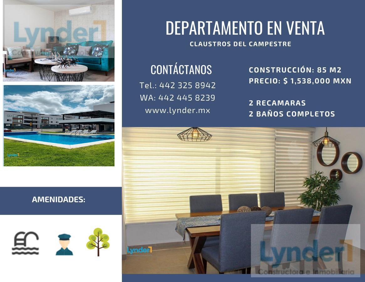 Foto Departamento en Venta en  Claustros del Campestre,  Corregidora  DEPARTAMENTO EN VENTA EN EL FRACCIONAMIENTO CLAUSTROS DEL CAMPESTRE, CORREGIDORA, QUERÉTARO.