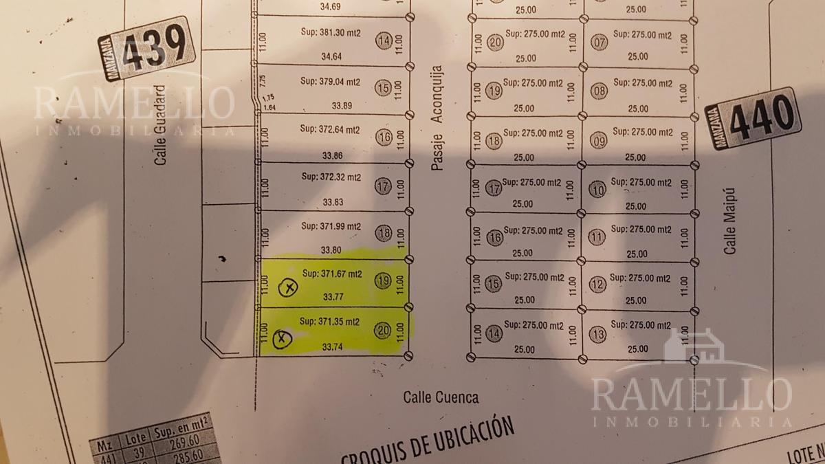 Foto Terreno en Venta en  Barrio Parque Bimaco,  Rio Cuarto  Guadard al 2400