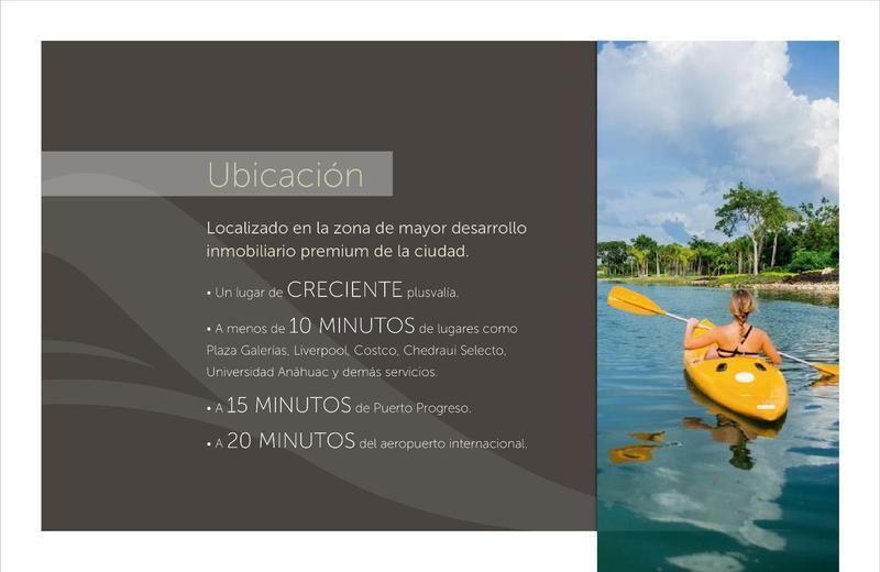 Foto Terreno en Venta en  Mérida ,  Yucatán  Terreno único en venta en Altozano privada Océano frente al lago