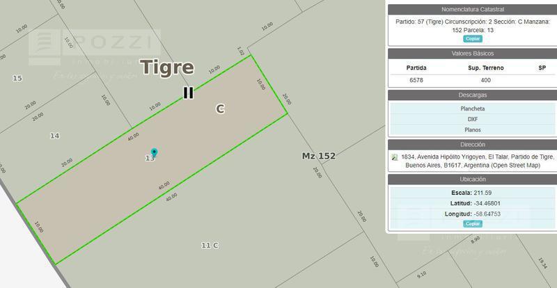 Foto Terreno en Venta en  El Talar,  Tigre  Pasteur al 1000