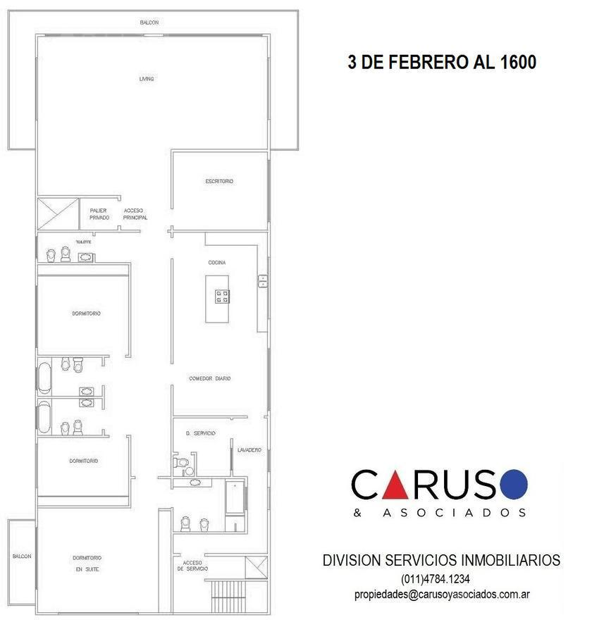 Foto Departamento en Venta en  Belgrano Barrancas,  Belgrano  Tres de Febrero al 1600