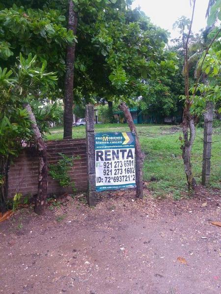Foto Terreno en Renta en  Ejido Ejido el Jaguey,  Minatitlán  CALLE ATENAS S/N ESQUINA CON CALLE REFORMA,. COLONIA EL JAGUEY