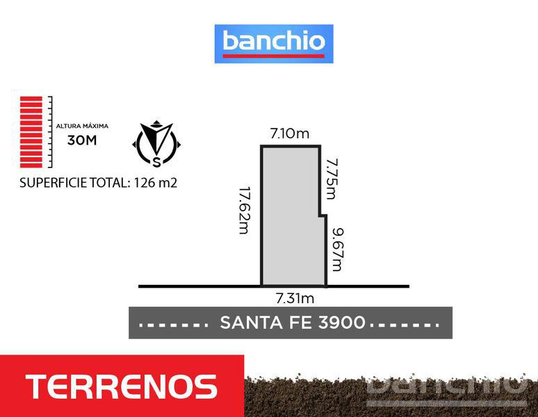Santa Fe al 3900, Rosario, Santa Fe. Venta de Terrenos - Banchio Propiedades. Inmobiliaria en Rosario
