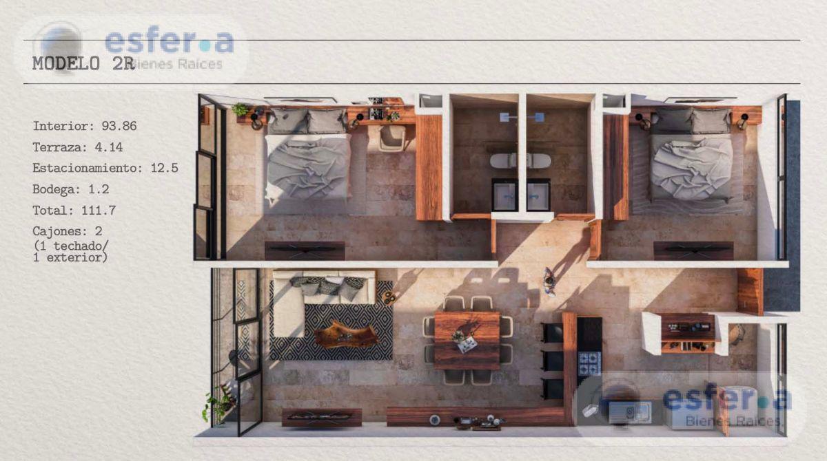 Foto Departamento en Venta en  Fraccionamiento Montebello,  Mérida  Pre-venta Departamento de lujo Makou Montebello, 2 recámaras.
