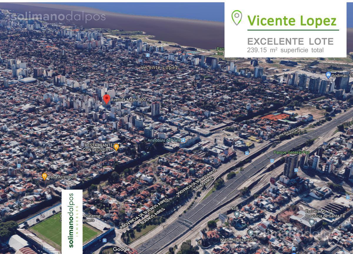 Foto Terreno en Venta en  V.Lopez-Vias/Maipu,  Vicente Lopez  Av. Maipu al 500