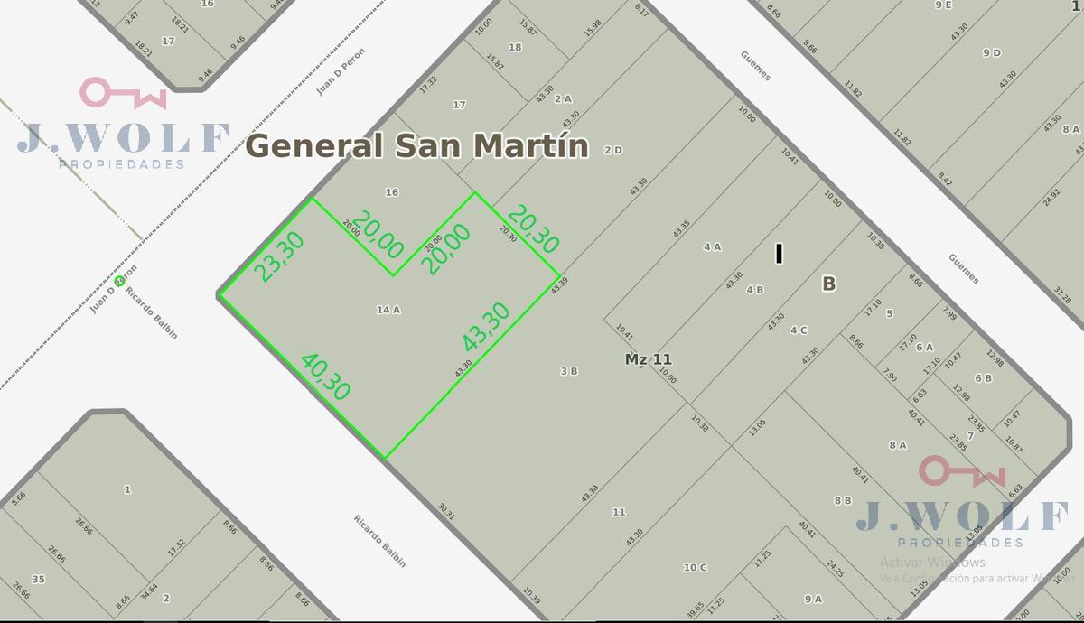 Foto Terreno en Venta en  S.Martin(Ctro),  General San Martin  Ruta 8 y 3 de Febrero