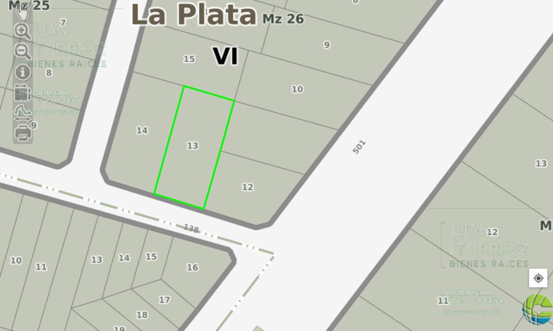 Foto Terreno en Venta en  José Hernández,  La Plata  138 e/ 500 y 501 - José Hernández