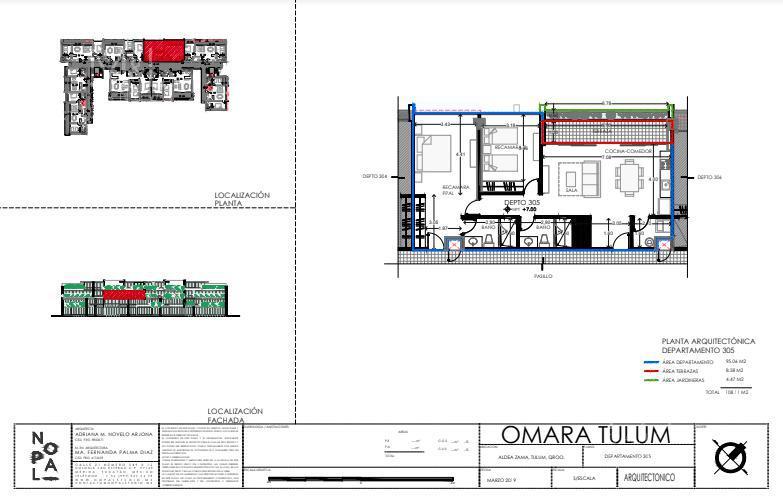 Foto Departamento en Venta en  Aldea Zama,  Tulum  Departamento en Venta en Tulum, 2 recámaras  OMARA  Aldea Zama