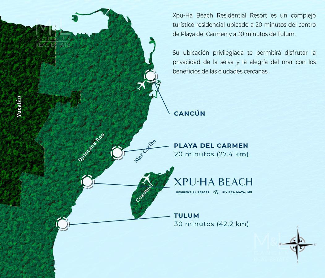 Foto Terreno en Venta en  Xpu Ha,  Solidaridad  Terreno en Venta XPU-HA BEACH ARRECIFE 623 m2 con Club de Playa. Riviera Maya