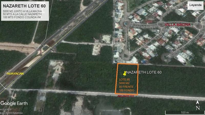 Foto Terreno en Venta en  Supermanzana,  Cancún  SUPER TERRENO JUNTO A VILLA MAGNA CANCUN