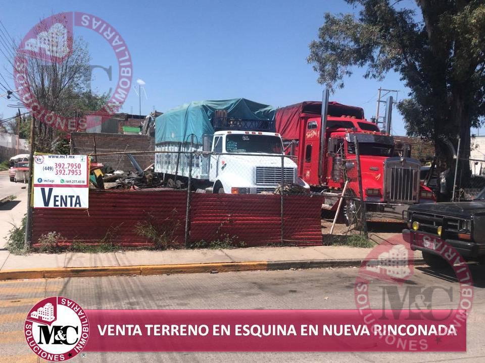 Foto Terreno en Venta en  Fraccionamiento Nueva Rinconada,  Aguascalientes  Venta Terreno en esquina en Nueva Rinconada