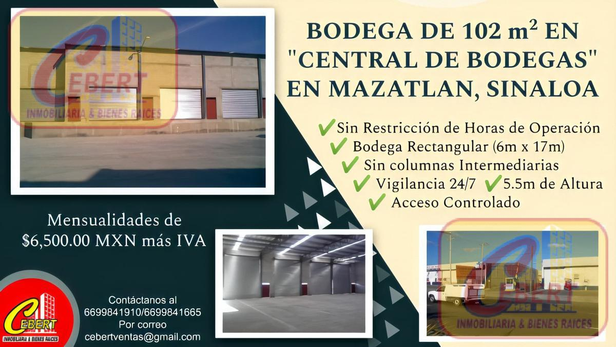 Foto Bodega Industrial en Renta en  Mazatlán ,  Sinaloa  Mazatlan, Sinaloa