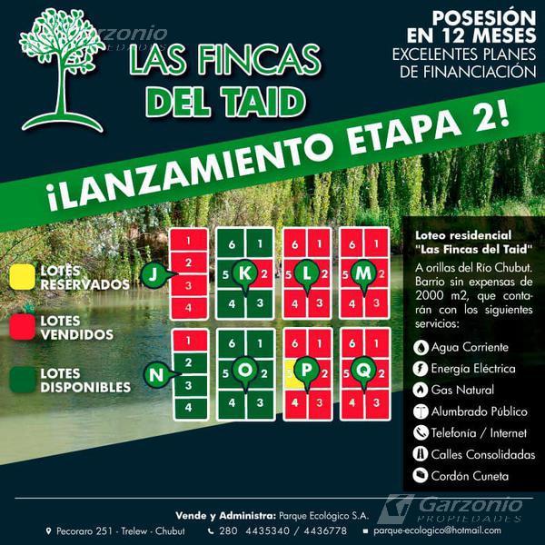"""Foto Terreno en Venta en  Trelew ,  Chubut  Entrega inicial y 40 CUOTAS  - Loteo residencial """"Las Fincas del Taid Etapa 2"""""""