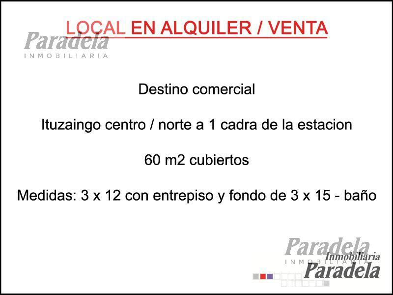 Foto Local en Venta en  Ituzaingó ,  G.B.A. Zona Oeste  Juncal al 100