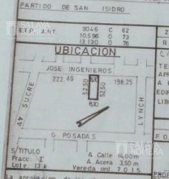 Foto Terreno en Venta en  Beccar,  San Isidro  jose ingenieros al 2600