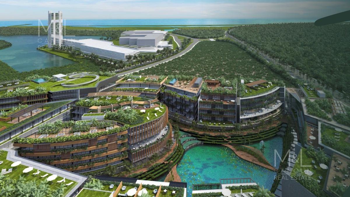 Foto Terreno en Venta en  Puerto Cancún,  Cancún  Terreno en Venta ZEN GARDENS Condominal de 600 m2 Uso Mixto. Puerto Cancùn, Cancùn Quintana Roo