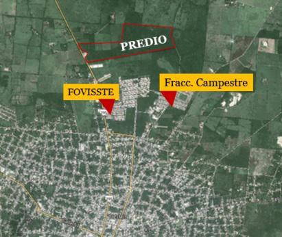 Venta de terreno de 25 hectáreas en Tizimín