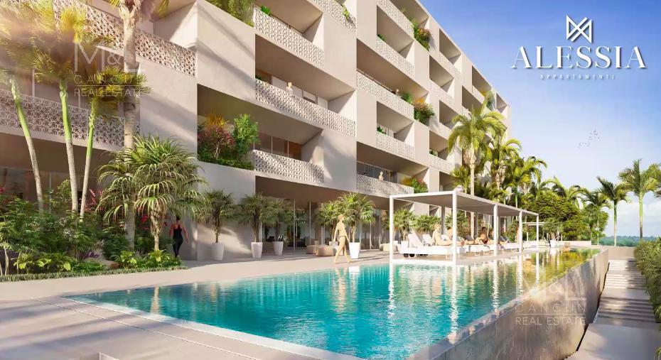 Foto Departamento en Venta en  Ciudad de Cancún,  Cancún  Departamento en Venta en Cancún,  ALESSIA, de 2 recámaras, en Río Residencial, de Grupo Cumbres