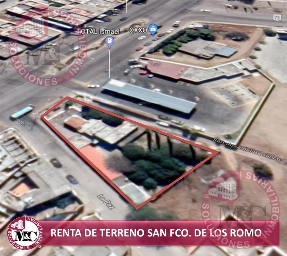 Foto Terreno en Renta en  San José del Barranco,  San Francisco de los Romo  RENTA TERRENO EN SAN FCO DE LOS ROMO