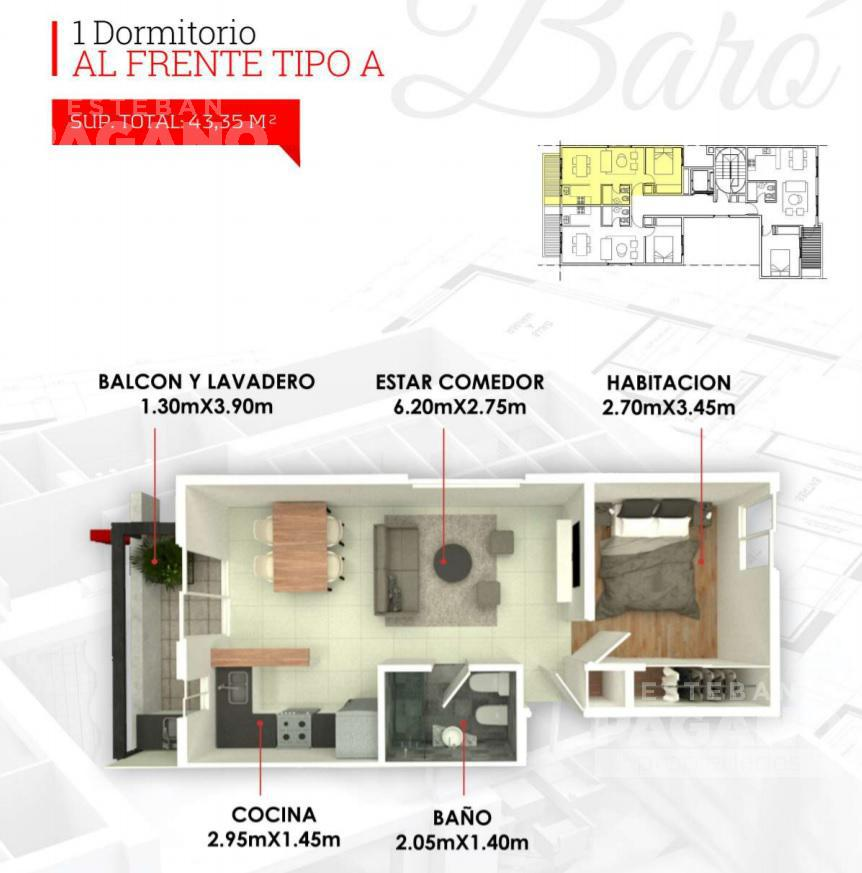 Foto Departamento en Venta en  La Plata,  La Plata  8 e 43 y 44