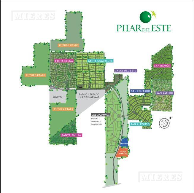 MIERES Propiedades- Terreno de 571 mts en Pilar del Este Santa Elena