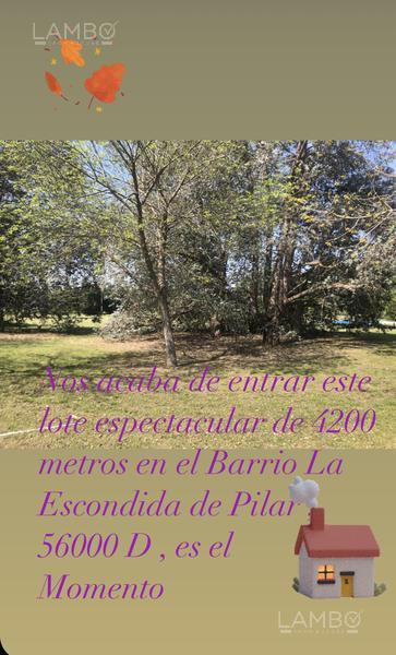 Foto Terreno en Venta en  La Escondida,  Countries/B.Cerrado (Pilar)  La Escondida
