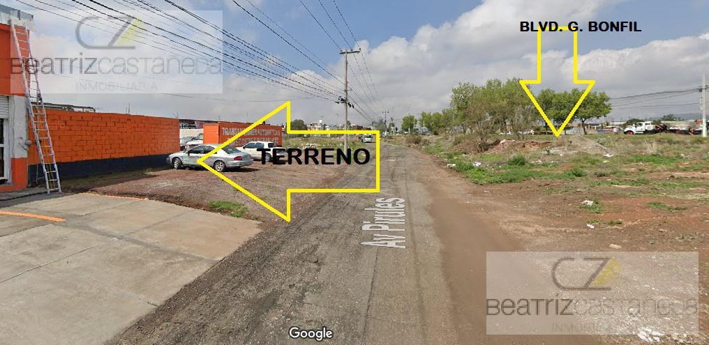 Foto Terreno en Renta en  Pachuca ,  Hidalgo  AV. PIRULES 48, MUY CERCA A BLVD. G BONFIL, PACHUCA, HGO.