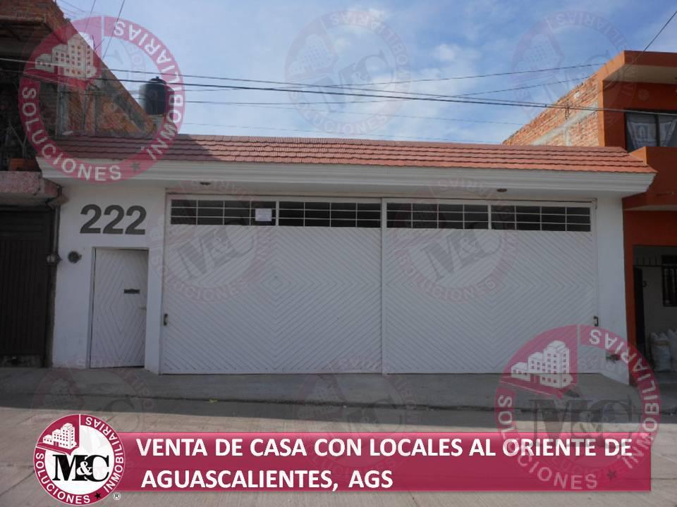 Foto Casa en Venta en  Las Cumbres,  Aguascalientes  M C VENTA DE CASA CON LOCALES AL ORIENTE DE AGUASCALIENTES, AGS