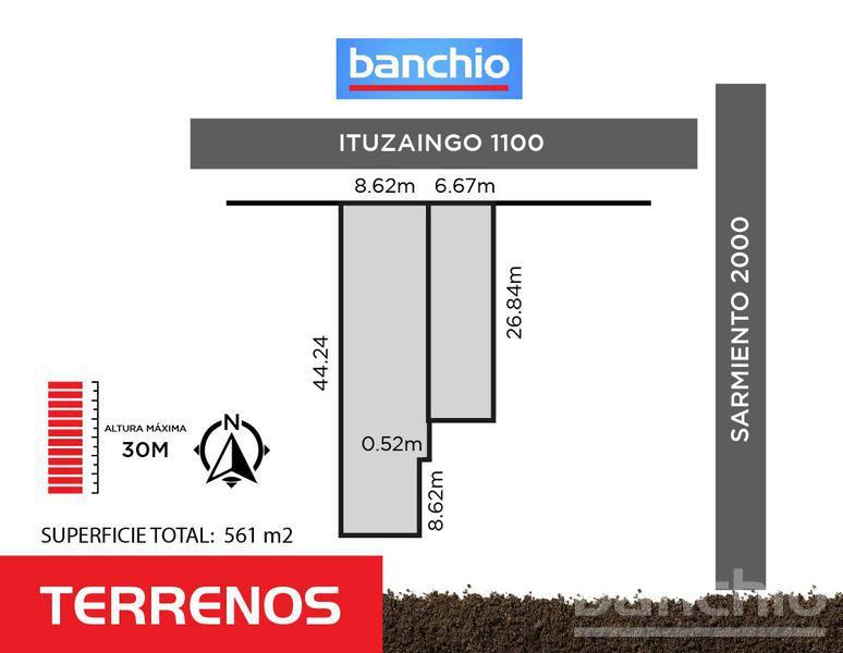 ITUZAINGO al 1100, Rosario, Santa Fe. Venta de Terrenos - Banchio Propiedades. Inmobiliaria en Rosario