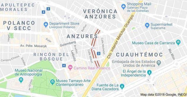 Foto Terreno en Venta en  Anzures,  Miguel Hidalgo  Terreno en VENTA en Goethe , Colonia Anzures