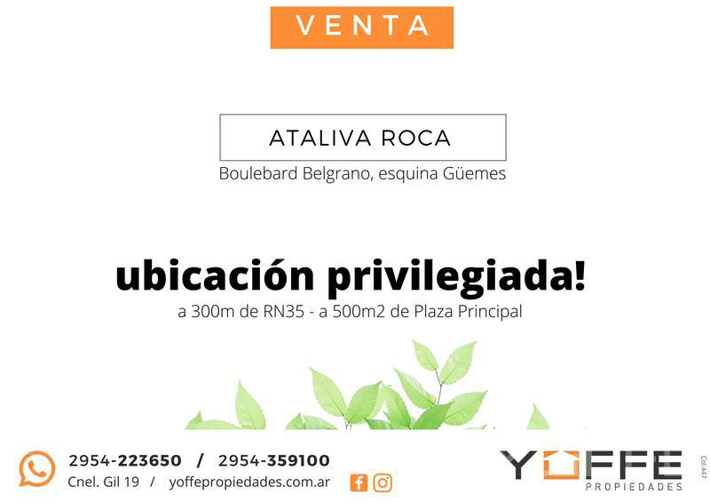 Foto Terreno en Venta en  Ataliva Roca,  Utracan  Ataliva Roca