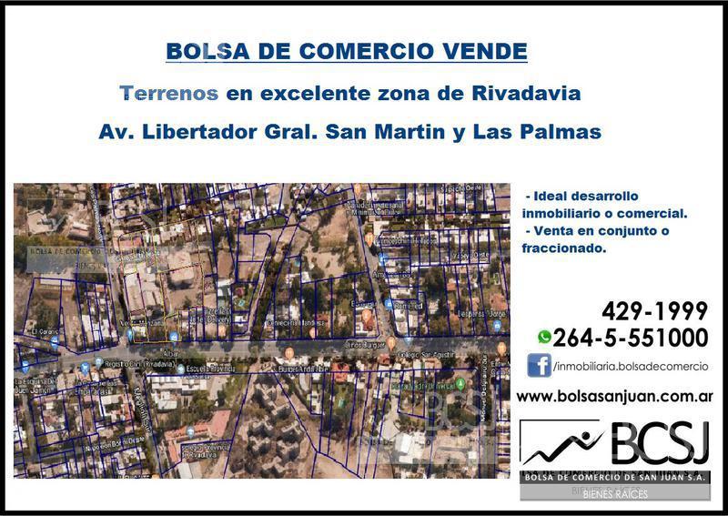 Foto Terreno en Venta en  Rivadavia ,  San Juan  Av. Libertador General San Martin Nº al 4100