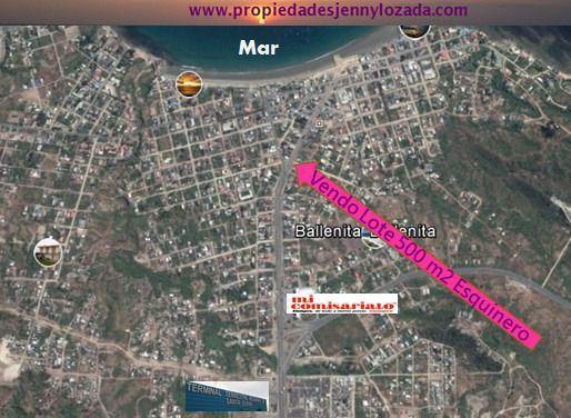 Foto Terreno en Venta en  Centro de Ballenita,  Ballenita      Vendo Terreno  en Ballenita Esquinero Sector Iglesia de las Conchas