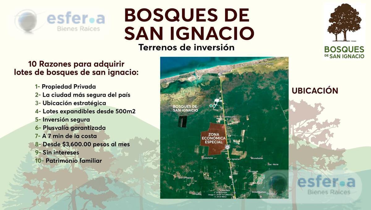 Foto Terreno en Venta en  Tekax ,  Yucatán  Terrenos en venta de Inversión en Bosques de San Ignacio, 500m2