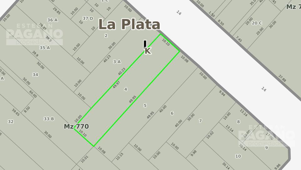 Foto Terreno en Venta en  La Plata ,  G.B.A. Zona Sur  14 e 43 y 44 N° 571