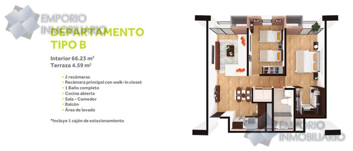 Foto Departamento en Venta en  Centro,  Monterrey  Departamento Venta Centro Cuauhtémoc Monterrey Desde $2,976,000 Bealob EMO1