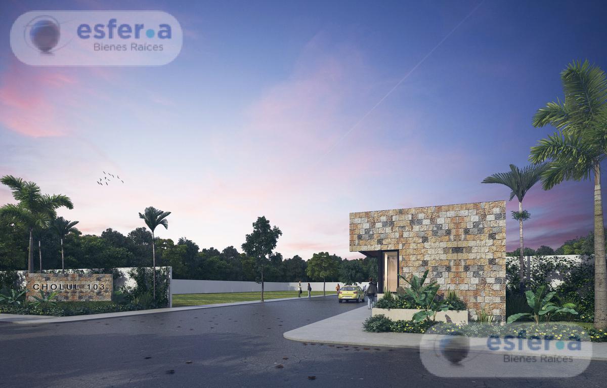 Foto Terreno en Venta en  Pueblo Cholul,  Mérida  CHOLUL 103 Lotes residenciales