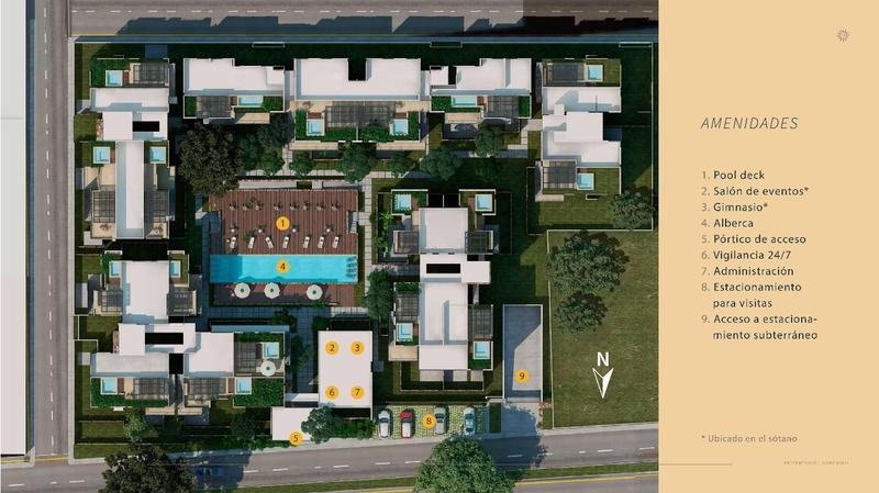 Foto Departamento en Venta en  Fraccionamiento Villas Del Sol,  Mérida  DEPARTAMENTOS 2DO & 3ER N - GARDEN HOUSE - TERRACE    city condos